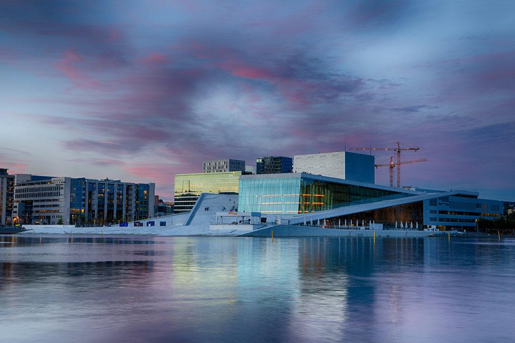 Oslo Opera at Sunset